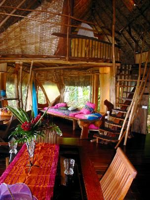 The living area in the bungalow!