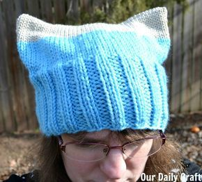 Pussy cat hat knit