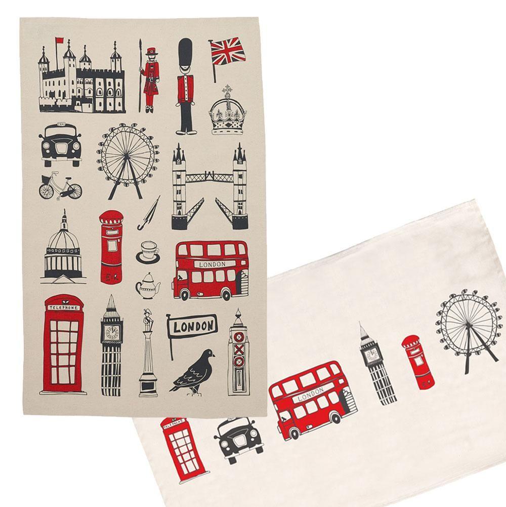 Two London Tea Towels GIFT SET