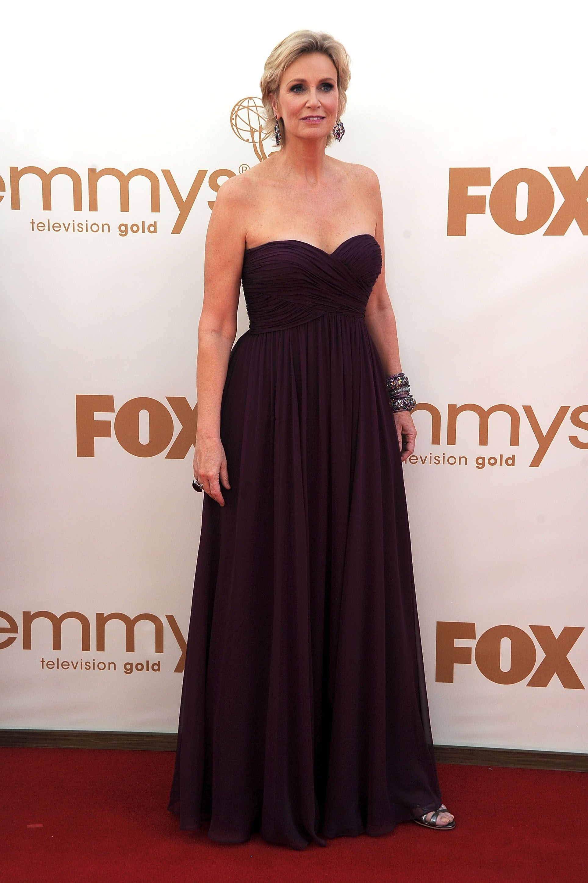 Dianna agron wedding dress  Emmys Girls Red Carpet Gallery  Jane lynch Red carpet and Purple