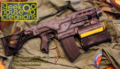 Copy of Custom Painted Nerf Gun, modeled after M4 Pulse Rifle from Aliens,  also