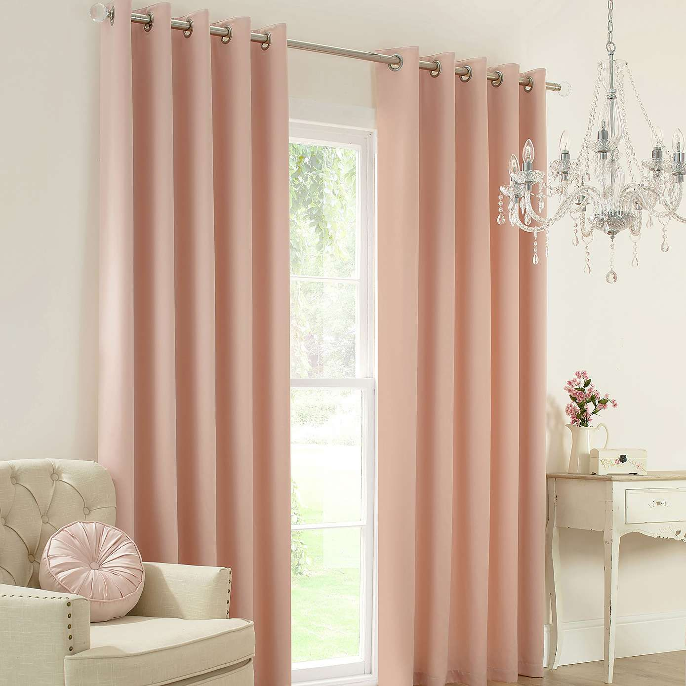 Blush Claire Thermal Eyelet Curtains Dunelm Home Decor