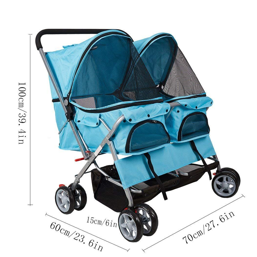 KARMAS PRODUCT Double Pet Stroller Wheels Large Strollers