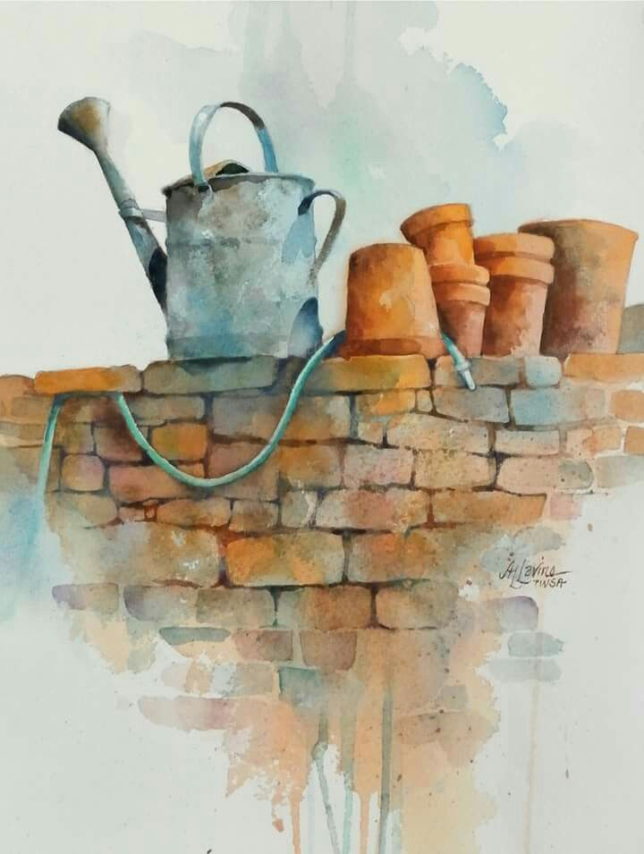 Watercolor By Alexis Lavine With Images Watercolor Art