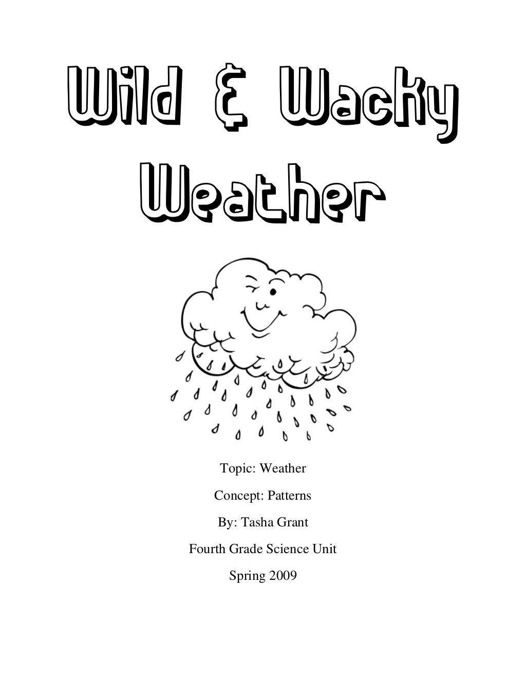 Fourth Grade Worksample Weather Unit By Tasha Grant Via