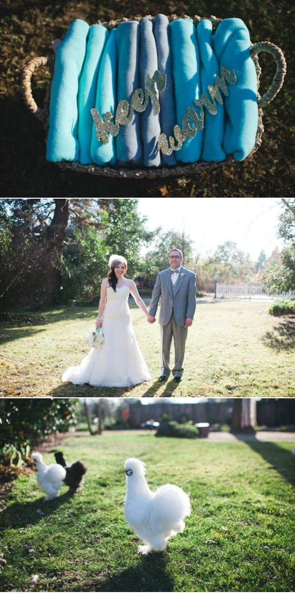 I love the blankets for the ceremony! I must-have when getting hitched in the colder months!