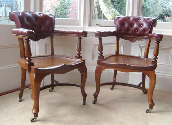 Antique Oak Office Chairs