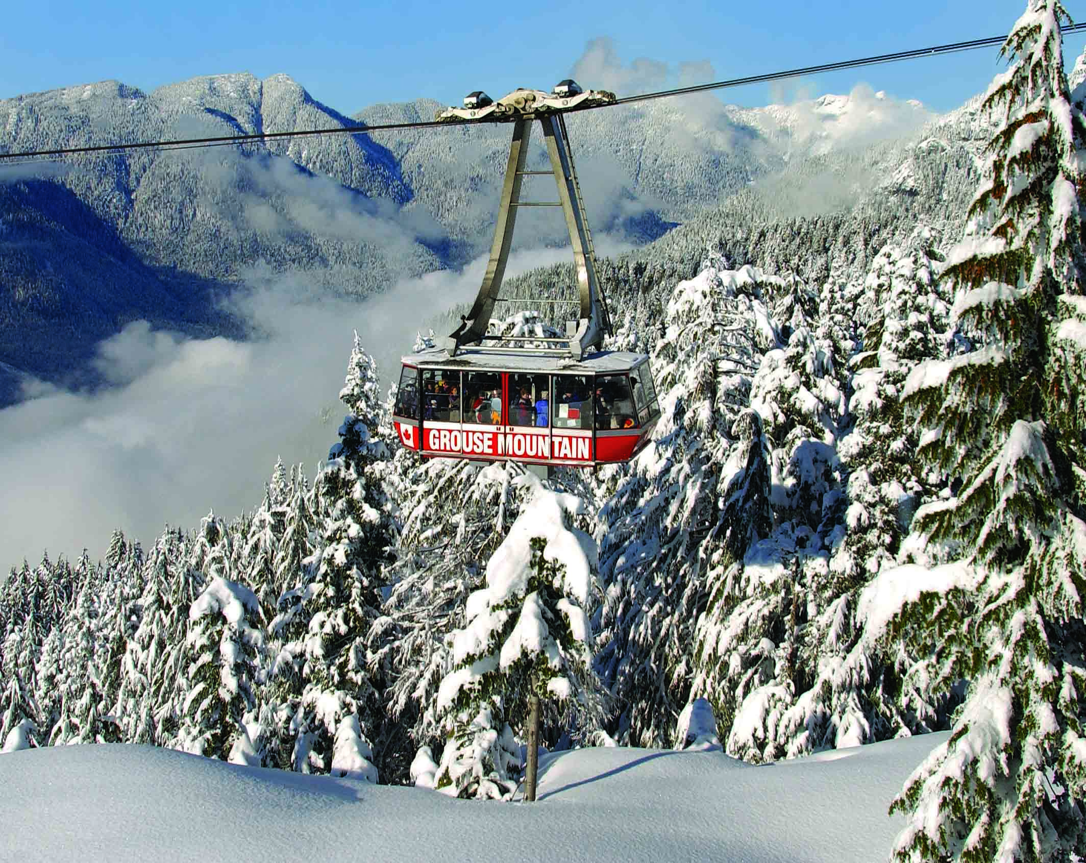 A snowy Super Skyride to the Peak of Grouse Mountain