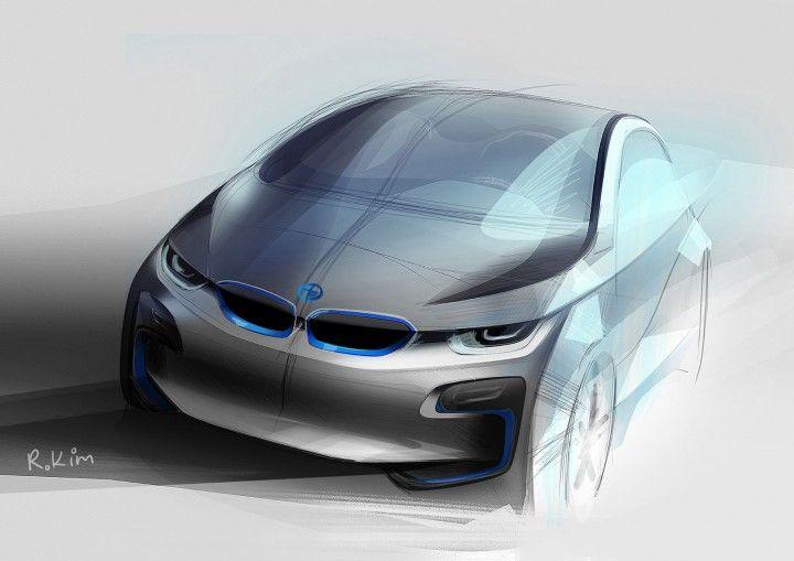 BMW i 3 Concept - Design Sketch - from the Design Sketch Board http://www.carbodydesign.com/design-sketch-board/