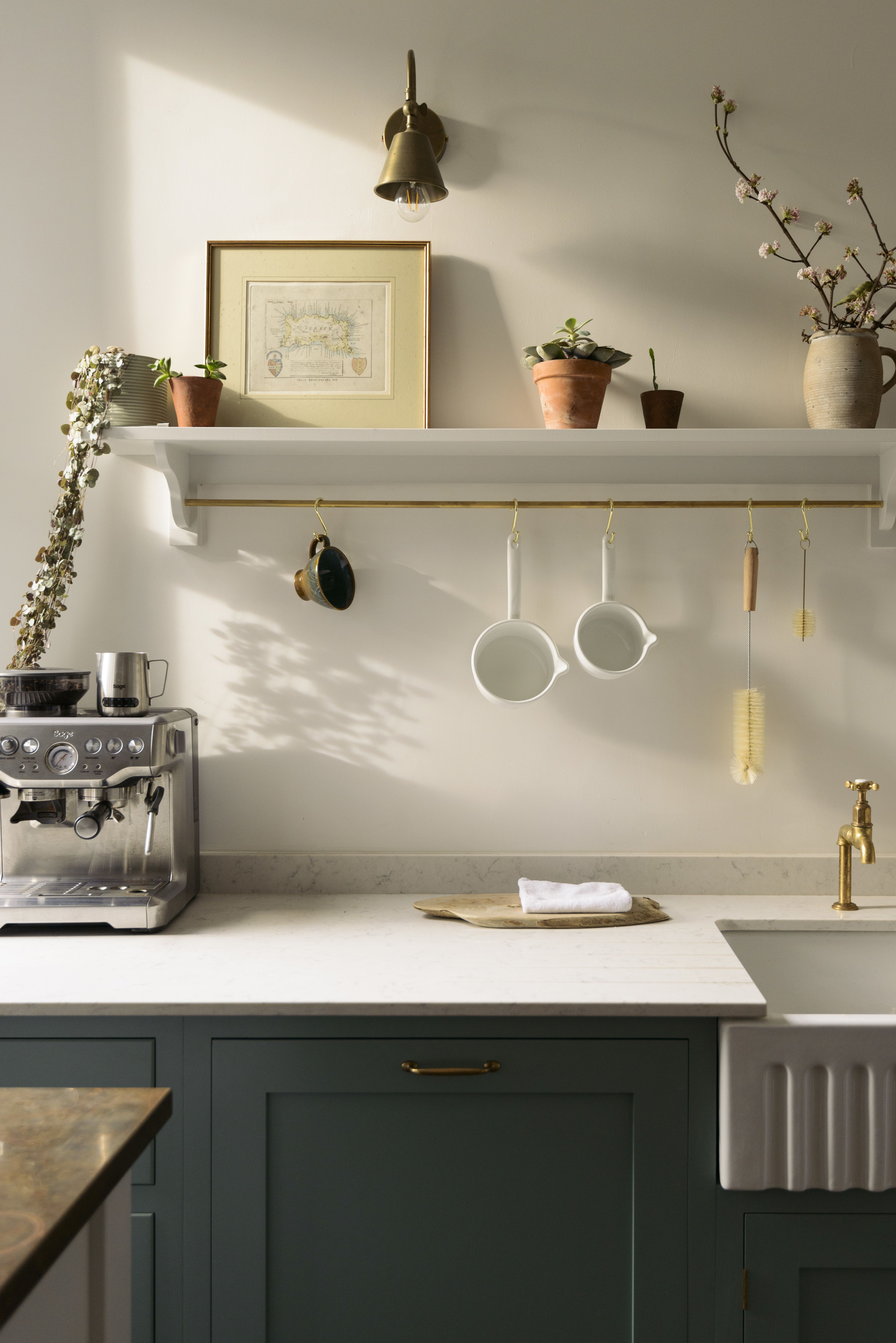 A Kitchen Rail Is The 30 Secret To Extra Storage Space Kitchen Rails Kitchen Storage Kitchen Storage Solutions
