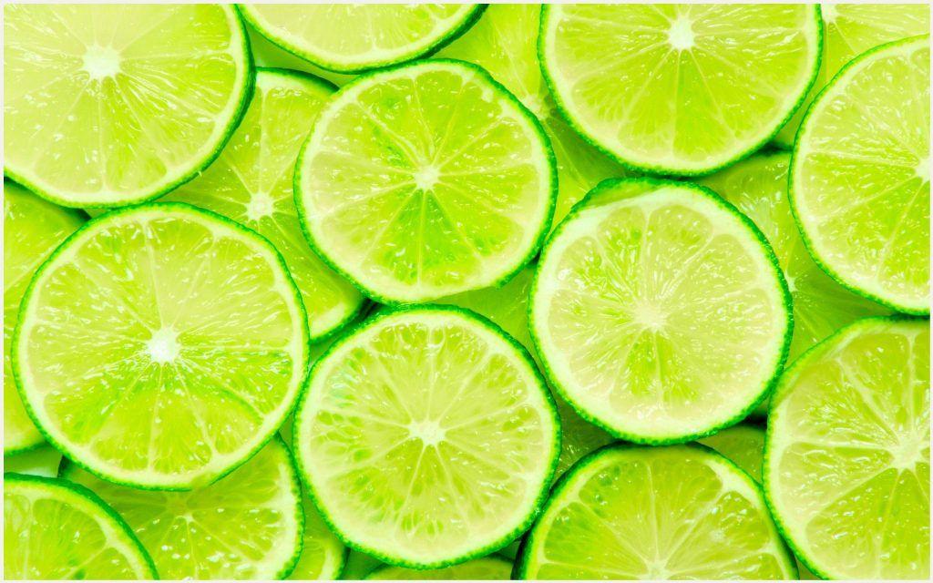 Cute Summer Iphone Wallpapers: Green Lemon Slices Wallpaper