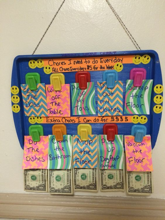 Easy Diy C Chart Idea Use An Old Baking Sheet Paint It Put Some Sticky Command Hooks On And Give The Kids Incentive Money To Do Their