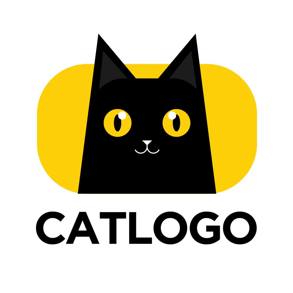 Illustration Black Cat Logo Vector Icon Black Cat Illustration Cat Icon Black Cat Tattoos