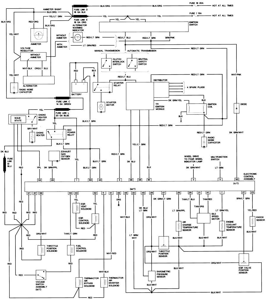 Bronco Ii Wiring Diagrams Corral At 1985 Ford Ranger Diagram Ford Ranger Diagram Electrical Wiring Diagram