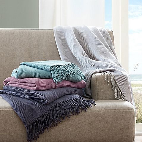 INKIVY Reeve Ruched Throw Blanket In Navy Blanket Shabby And Inspiration How To Drape A Throw Blanket On A Bed