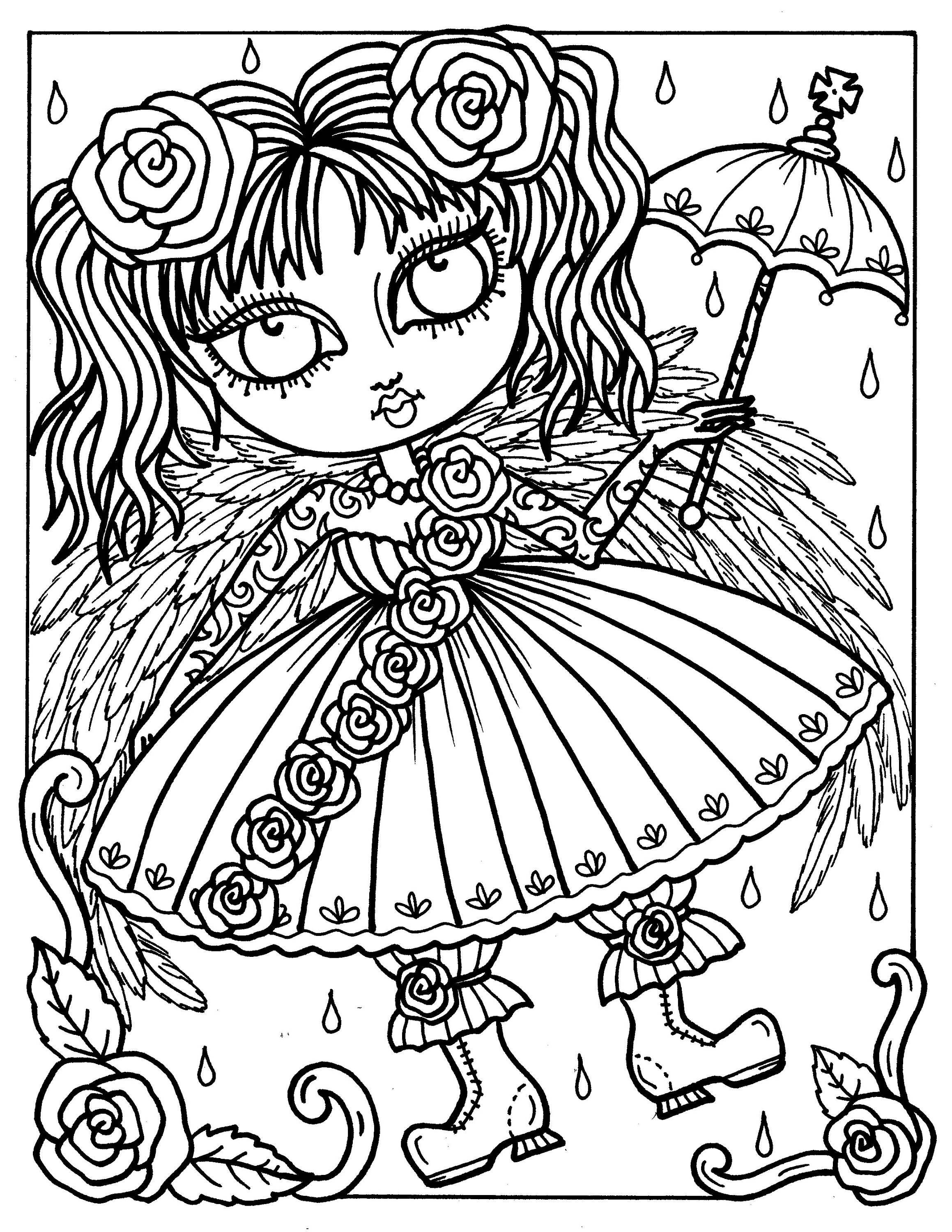 Digital Book Gothic Angels Instant Download Coloring Book Etsy Angel Coloring Pages Fairy Coloring Pages Gothic Angel