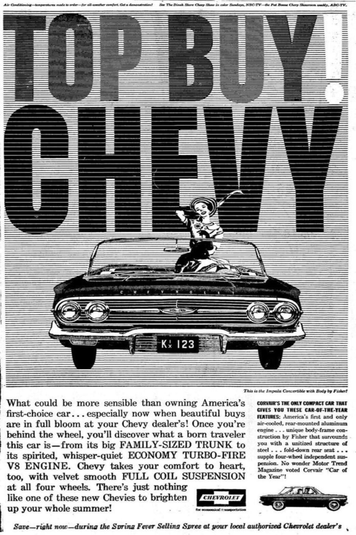 1960 Chevy Impala Convertible Ad In 2020 1960 Chevy Impala James Brown Chevy