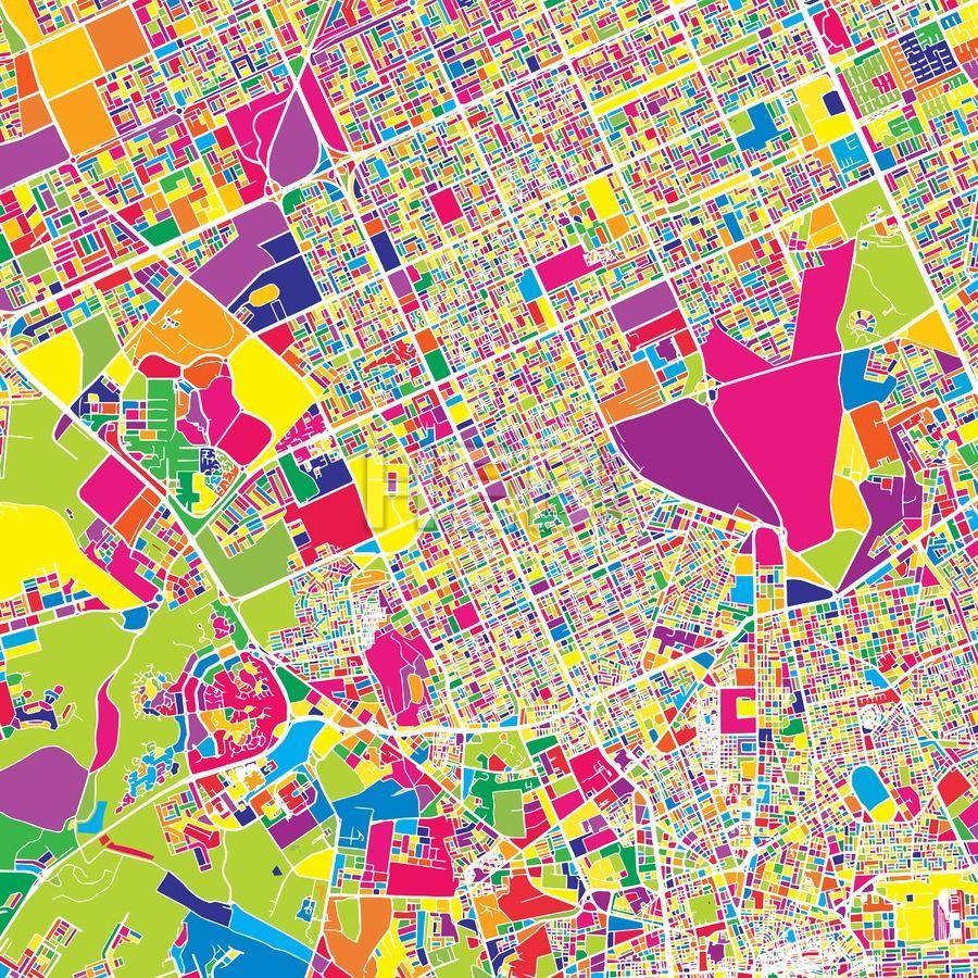 Riyadh Saudi Arabia colorful vector map Riyadh saudi arabia and