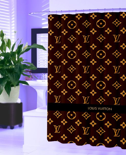 04b1c0b2a9 Louis Vuitton Logo Design Style New Hot Shower Curtain Design Vintage  Bathroom - Shower Curtains