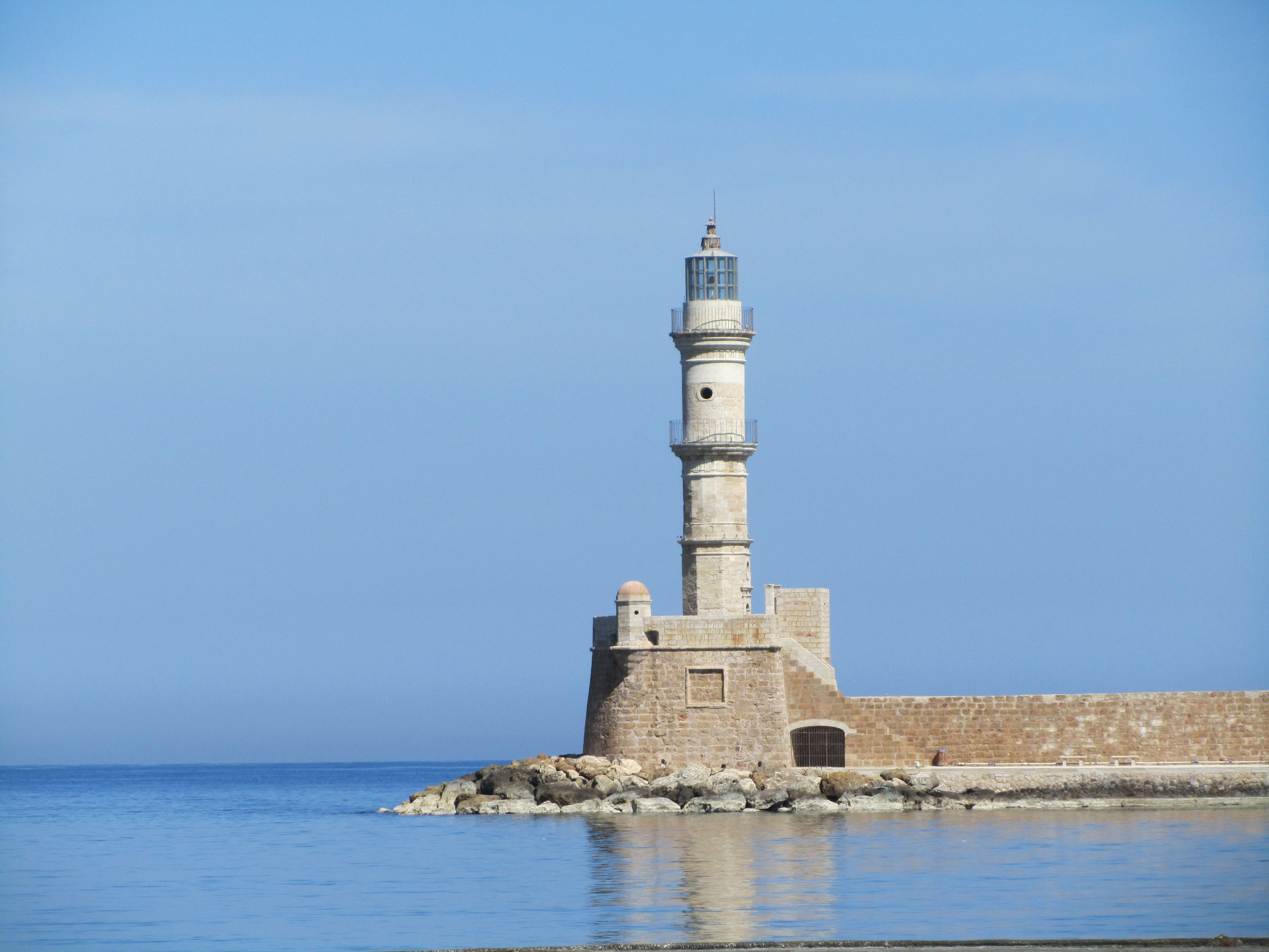 Lighthouse at the port of Chania #Crete island #Greece