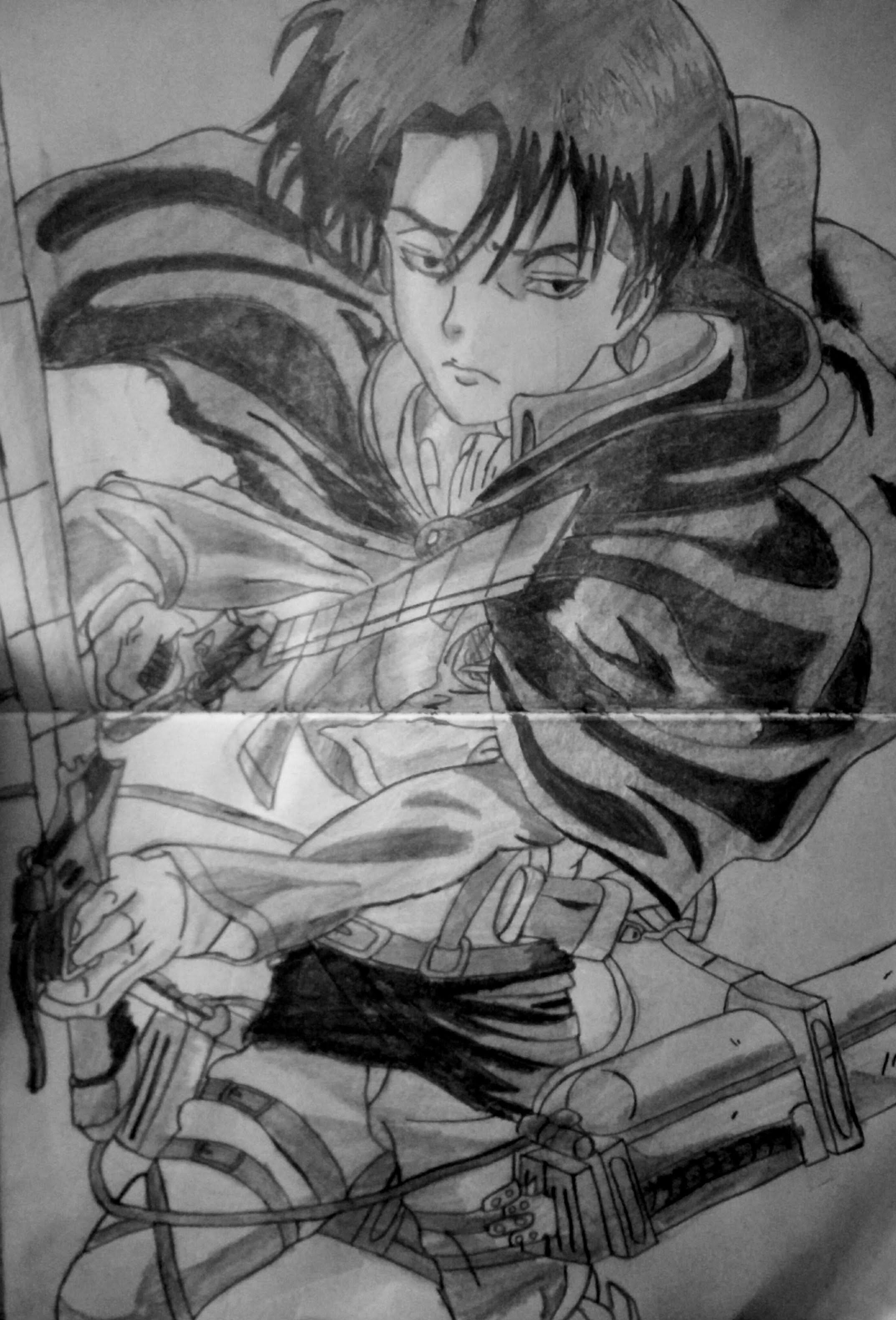 Speed drawing anime Levi Ackerman ( Shingeki No Kyojin