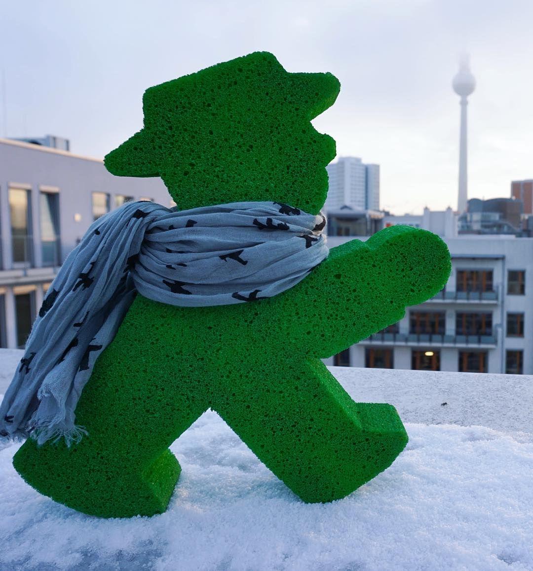 Snow + a great view! :D #LittleGreenMan #AmpelmannWorld #FollowAmpelmann #ampelmannLifestyle #Berlin