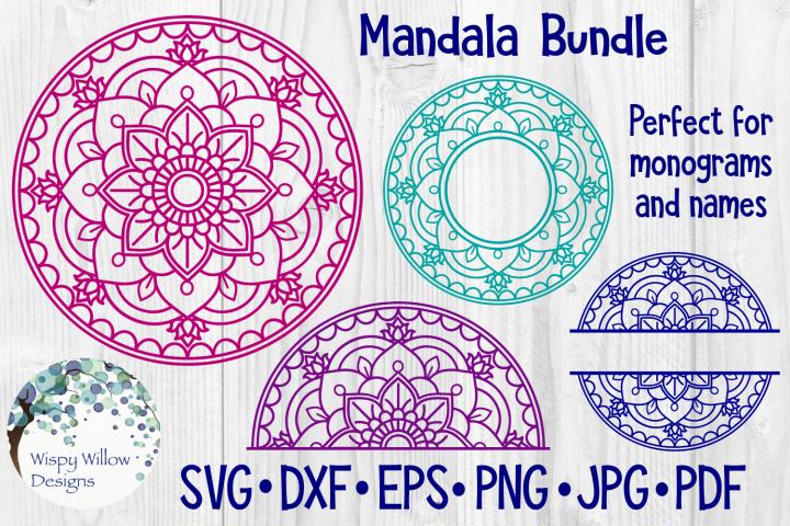 Download Mandala Bundle Svg Bundle Monogram Mandala Half Mandala 147847 Svgs Design Bundles Free Svg Files Monogram Svg Mandala Svg
