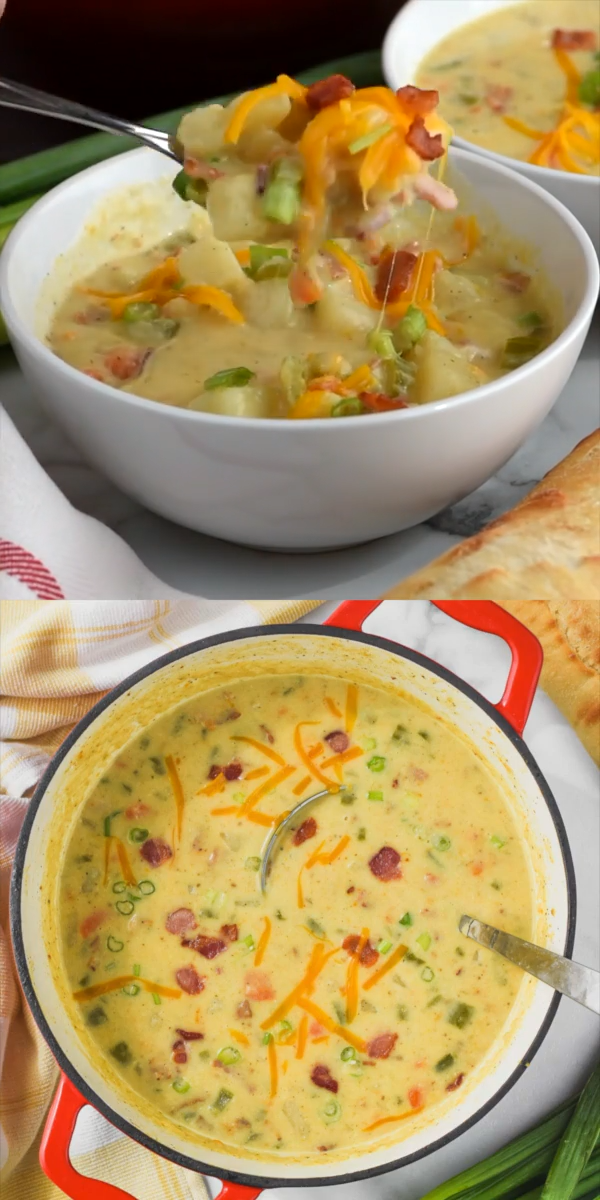 Creamy Potato Soup with Bacon