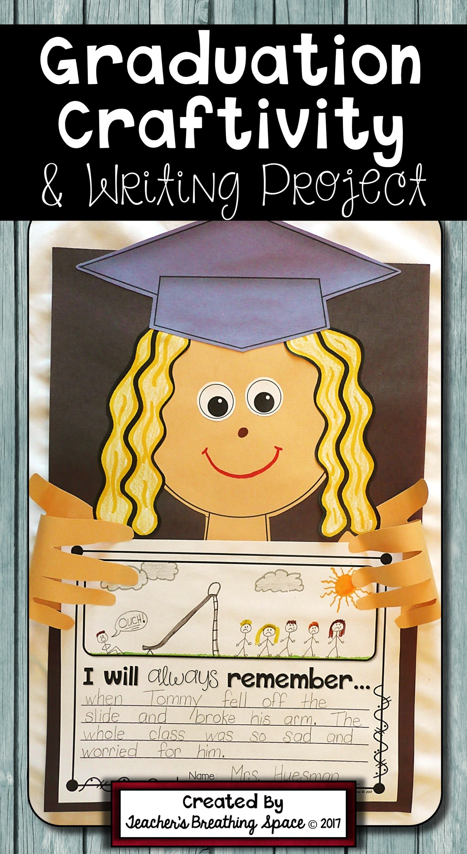 Graduation Craftivity And Writing Project For Grades K 2