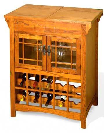 Craftsman style wine rack dream home pinterest for Arts and crafts wine rack