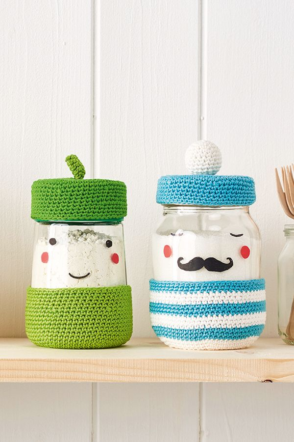 Crochet pattern: How to make a crochet jar cover - Mollie Makes ...