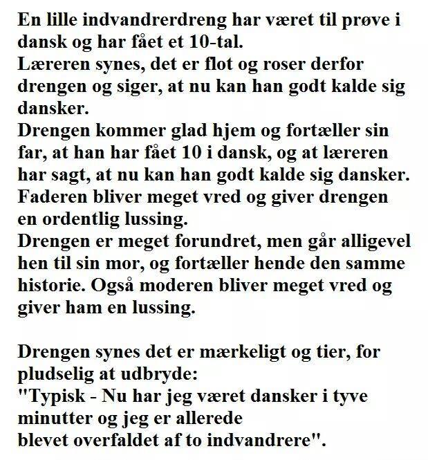 En lille indvandrerdreng har været til prøve i dansk... - Hyggestedet