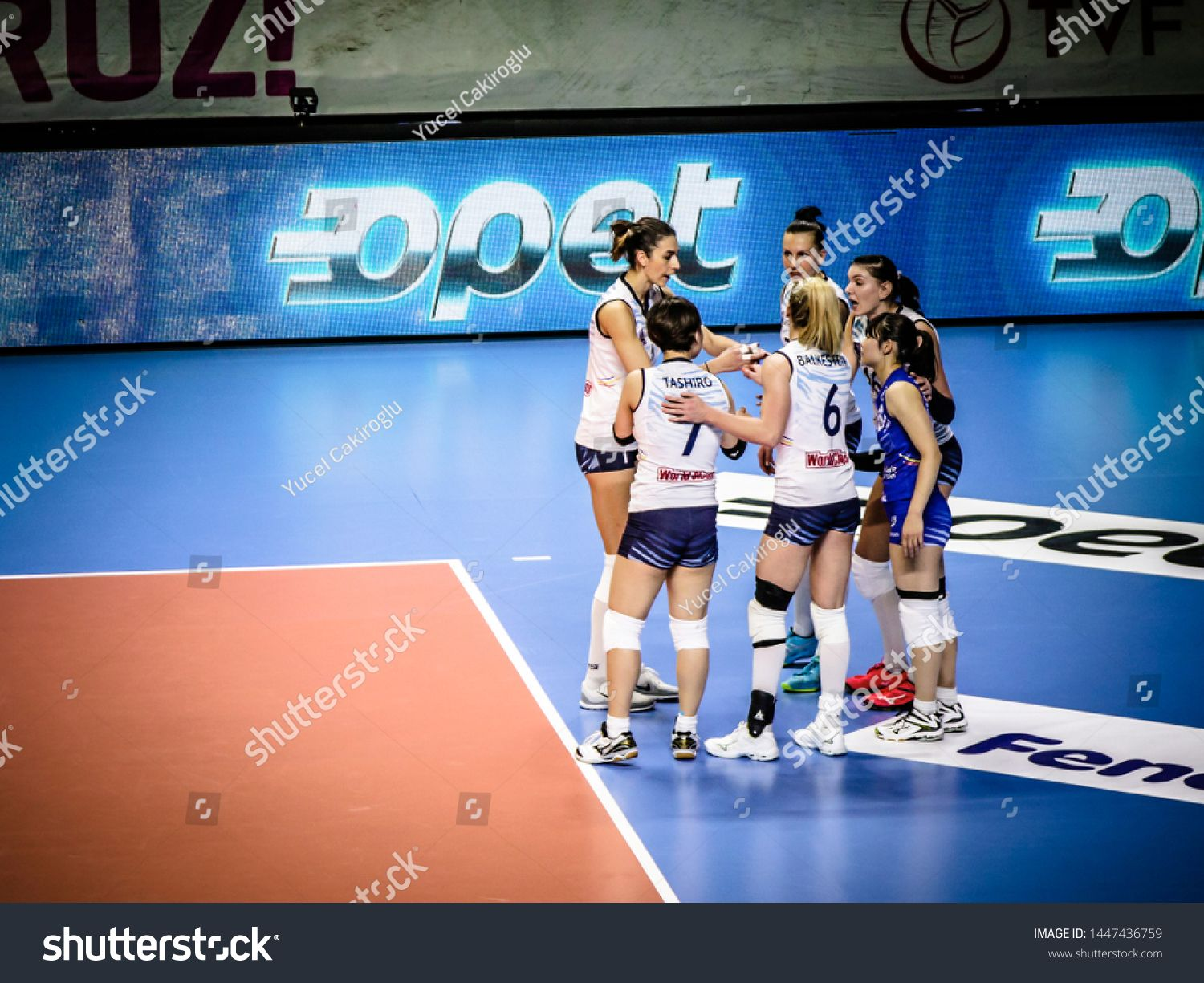 Istanbul Turkey January 23 2019 Match Played Between Fenerbahce Opet Istanbul And C S M Bucuresti At Burhan Felek Sport In 2020 Sport Hall Champions League Sports