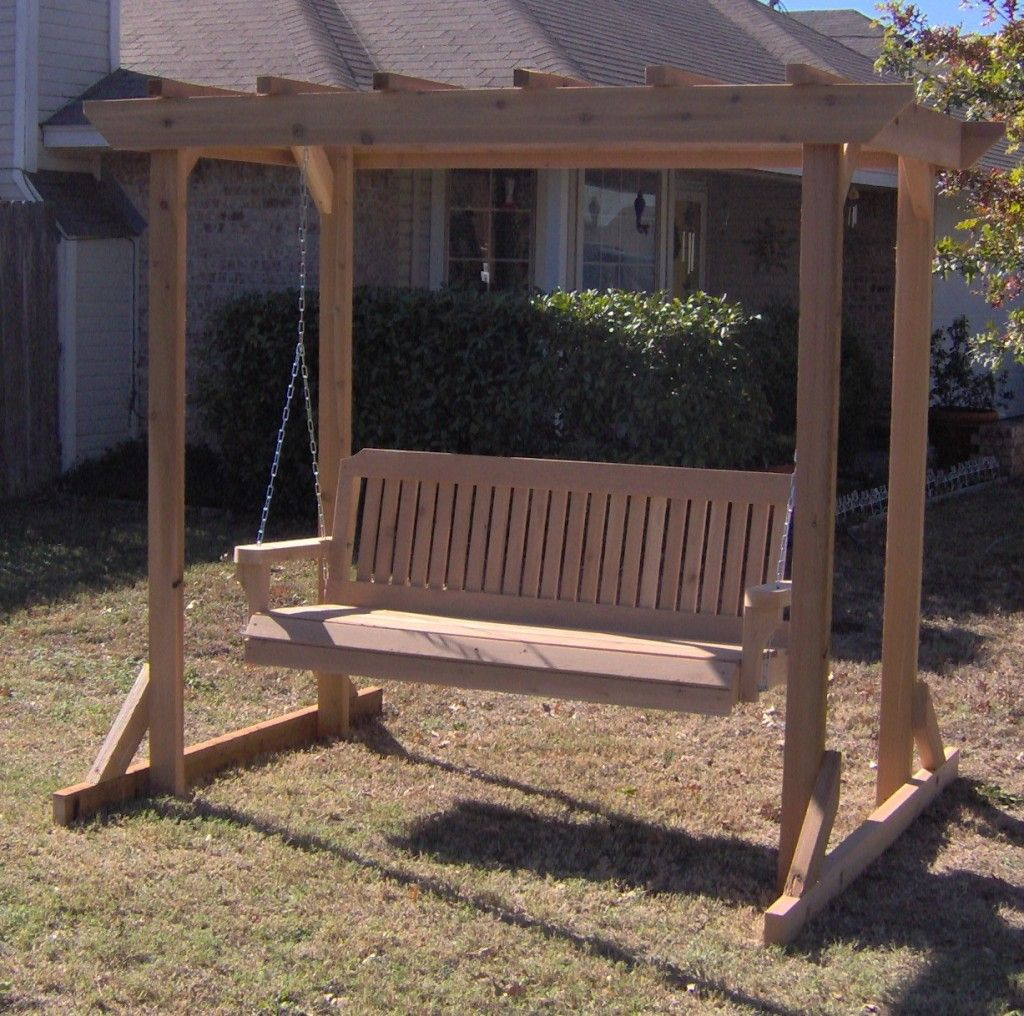 This item combines an all cedar garden arbor with one of for Victorian porch swing plans