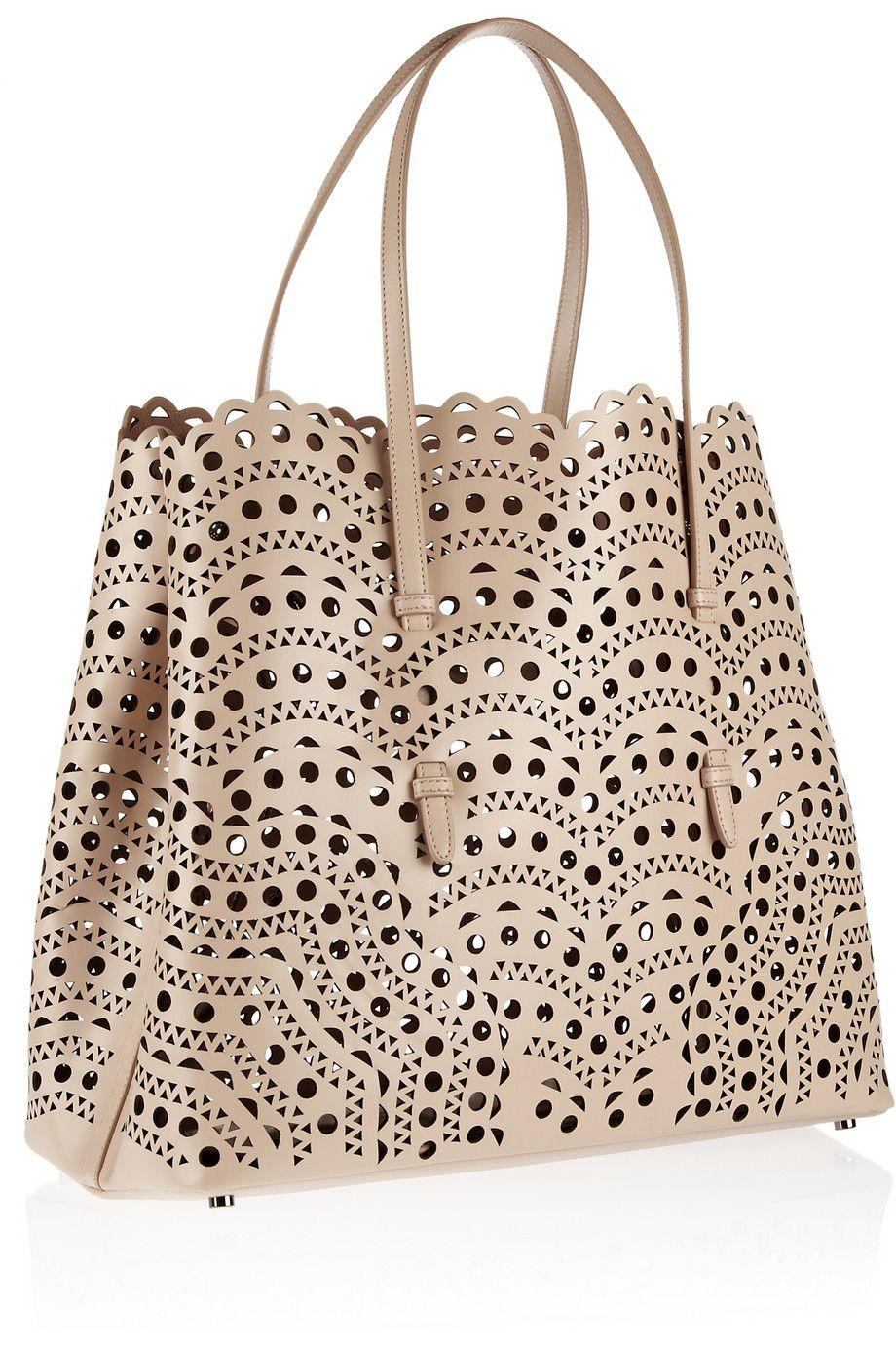 eedb2908c52e Alaïa Laser-cut leather tote | Fashion | Alaia bag, Bags, Laser cut ...
