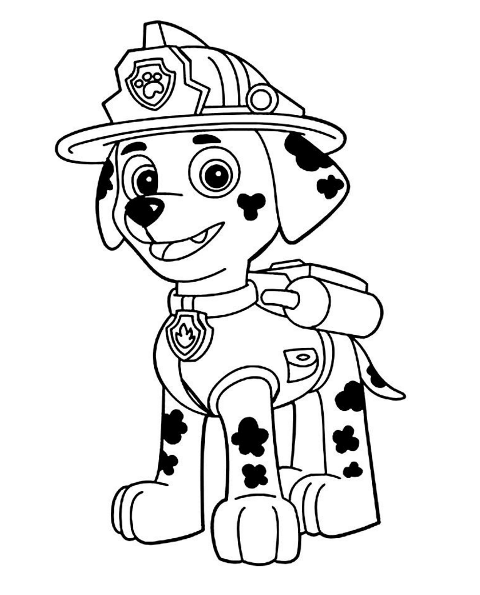 Paw Patrol Coloring Pages Diy Paw Patrol Party Decoration