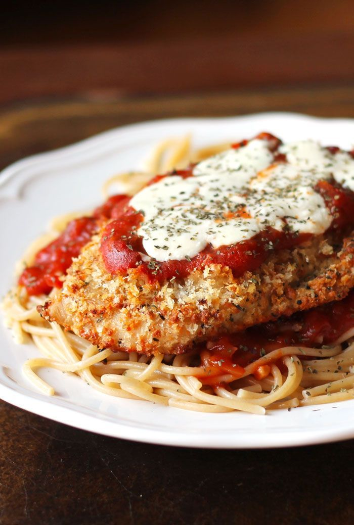 Oven Baked Chicken Parmesan Recipe Food Drinks Pinterest
