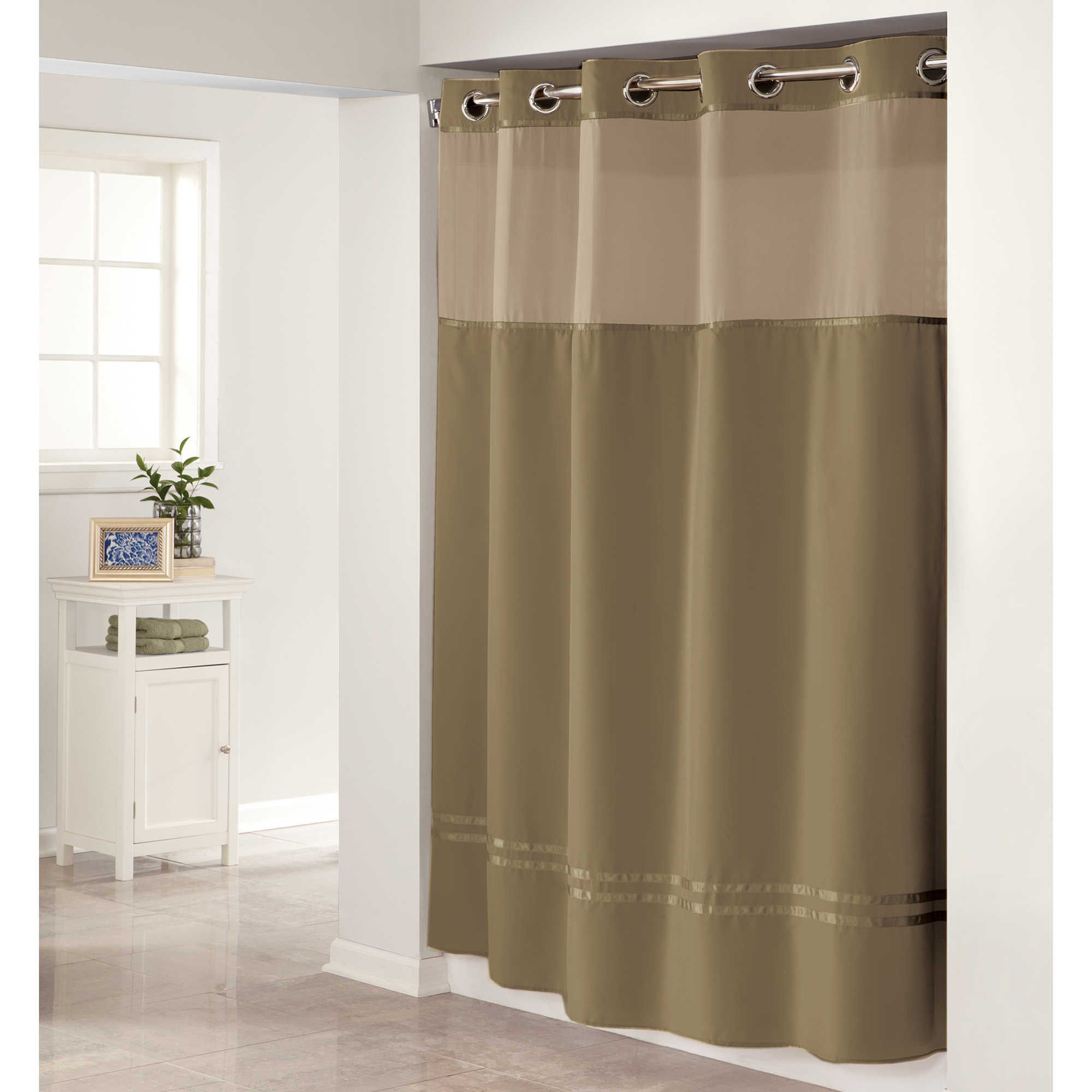 Hookless Escape Shower Curtain in Desert Taupe
