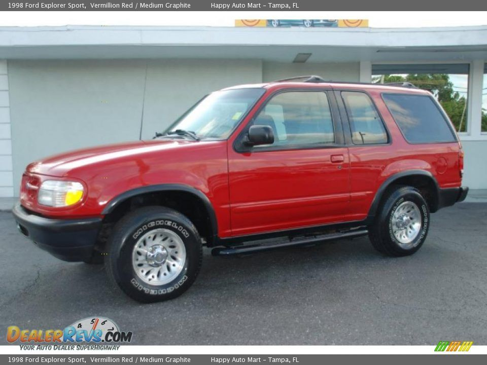 1998 Ford Explorer Sport Vermillion Red Medium Graphite Photo 5 Ford Explorer Explorer Sport Ford Explorer Sport