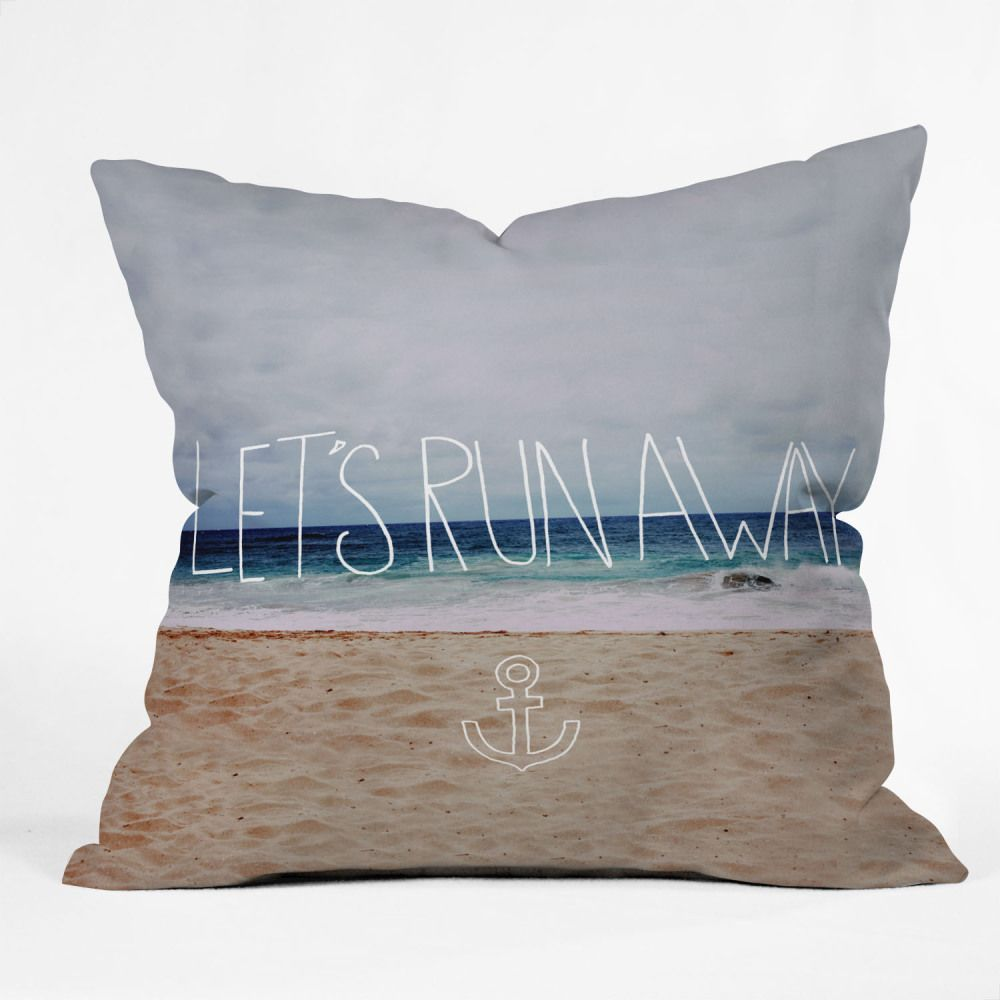"""On this summer day, all I want to say to this is YES! :: Leah Flores """"Lets Run Away III"""" Throw Pillow"""