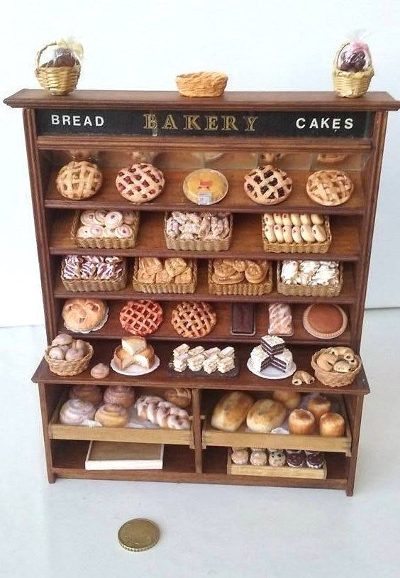 miniatures dollhouse furniture. 112 scale bakery bread cake display shop by artisan ooak dollhouse miniature miniatures furniture e
