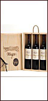 Vino Muga Reserva 2006 Caja Madera con 3 botellas y abridor. DO Rioja  www.decantavinos.es