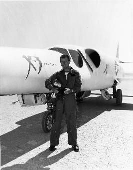 Chuck Yeager with the X-3