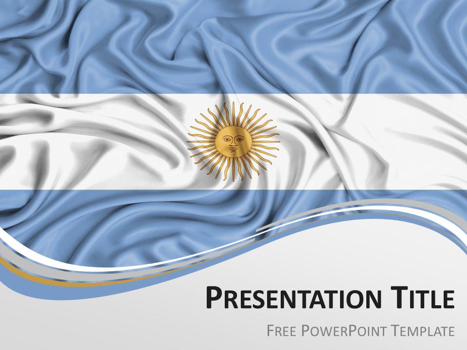 argentina flag powerpoint template presentationgocom