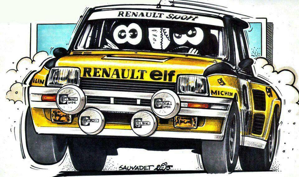 Renault 5 turbo auto art pinterest rallye - Dessin voiture de rallye ...