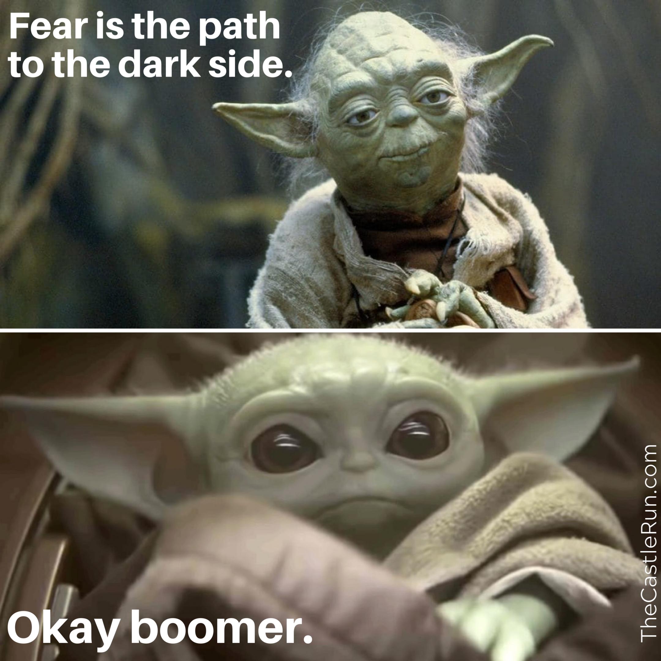 Baby Yoda Meme Okay Boomer Yoda Meme Star Wars Memes Star Wars Humor