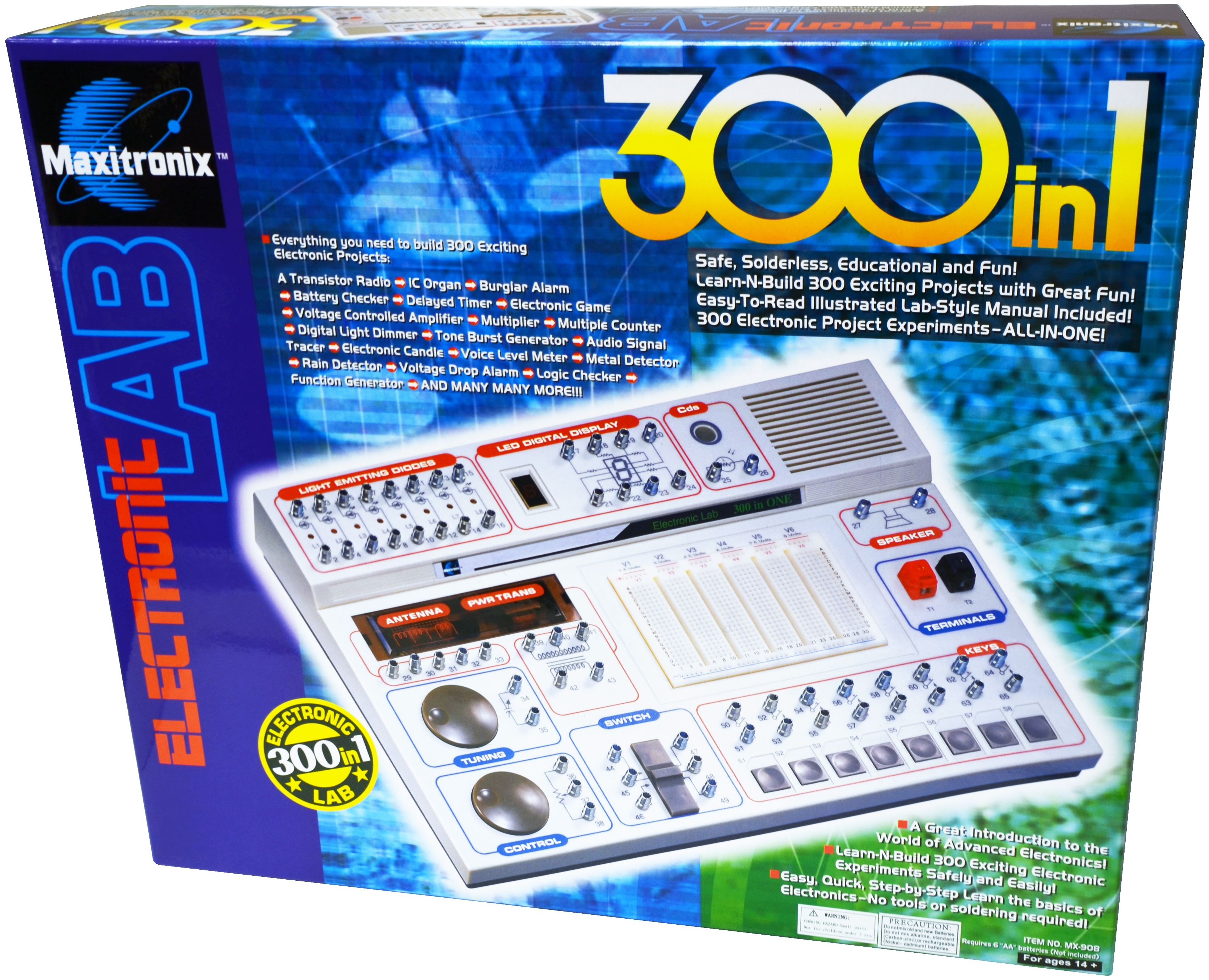 Model: MX-908 - 300-IN-ONE Electronic Project Lab   Electronic ...