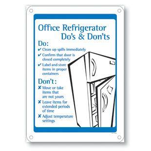 Avoid Refrigerator Wars Office Refrigerator Office Signs
