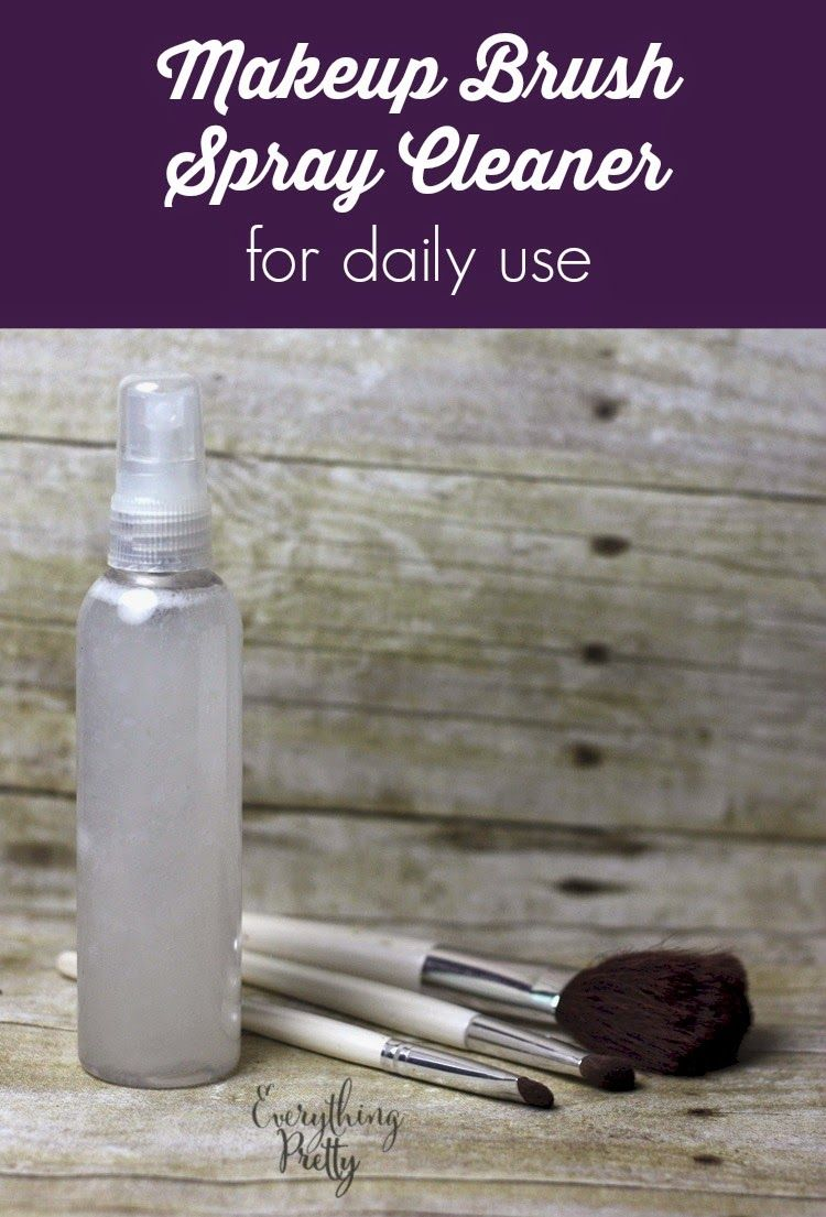 DIY Makeup Brush Cleaner Spray Diy makeup brush cleaner
