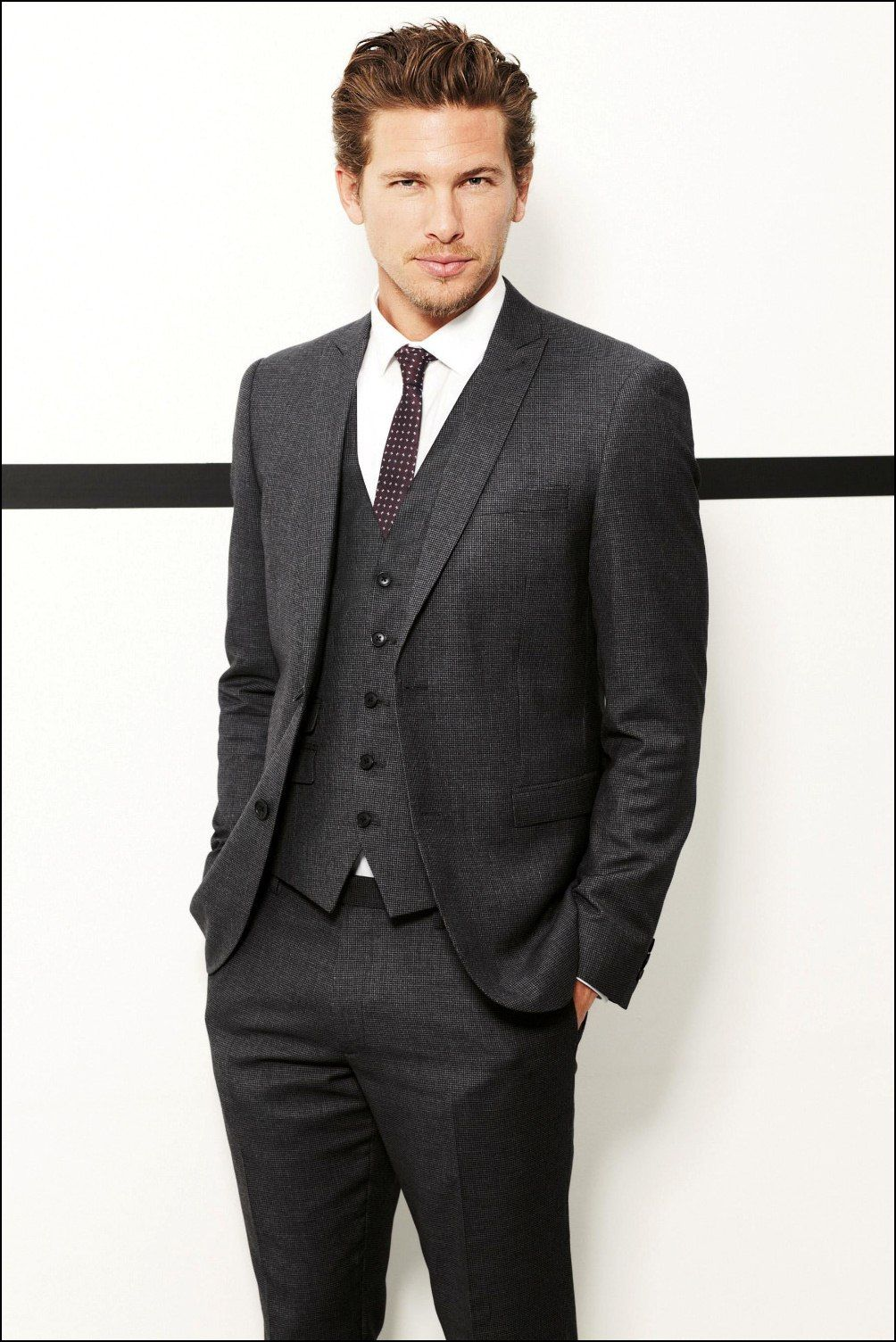 Black Suit for Men in Style Red Dotted Tiejpg 10041504 Men In